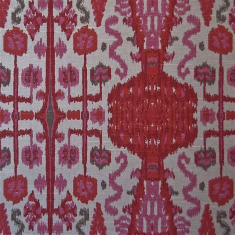 or115 ikat bombay pink printed by the yard upholstery home