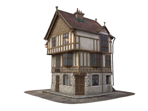 3D Medieval House   CGTrader