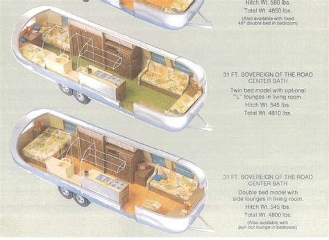 airstream floor plans  foot sovereign   road