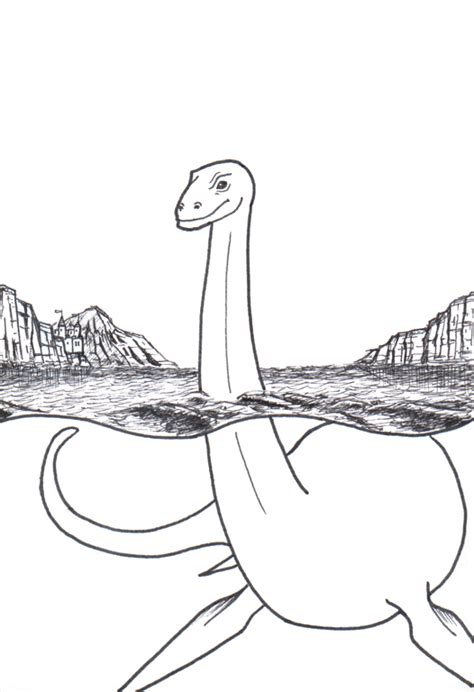 how to draw lochness monster