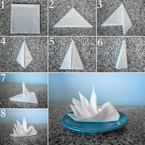 servietten festlich falten papierservietten falten anleitung festliche tischedeko