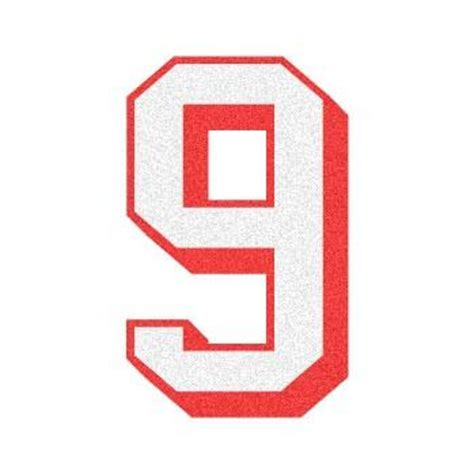 Letter Number 9 2 Color 3d Number Quot 9 Quot Reflective Decal The Bravest Decals
