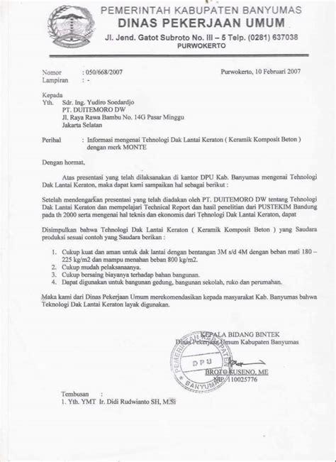 Contoh Surat Pemerintah by 15 Contoh Surat Dinas Resmi Pemerintahan Kesehatan