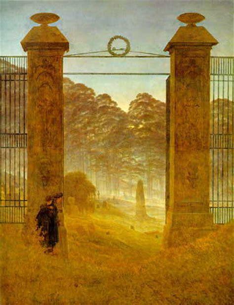 Caspar David Friedrich Referat by Romantik Referat Galerie Quot Friedhofseingang Quot Caspar