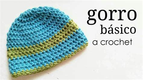 gorros de crochet gorro b 225 sico a crochet todas las tallas how to crochet