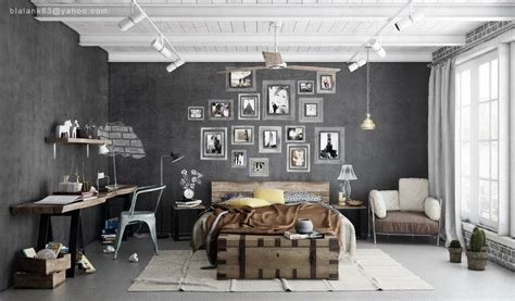 industrial home interior industrial bedrooms interior design home design