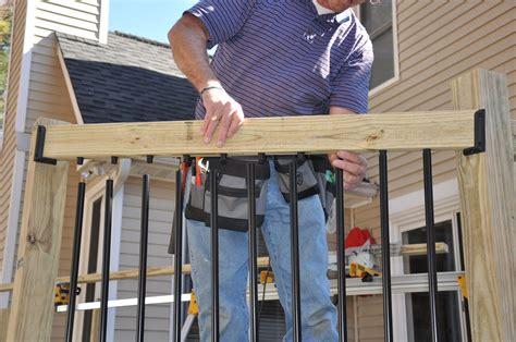 wood deck railing post spacing decks deck railing balusters