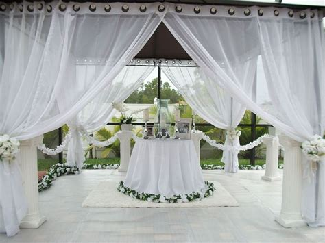 gazebo drapes patio pizazz outdoor gazebo white wedding drapes price