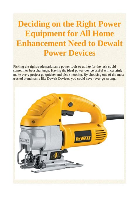 deciding on the right power equipment for all home
