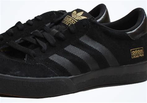 Kaos Adidas Sb Black adidas skateboarding lucas pro black metallic gold sneakernews