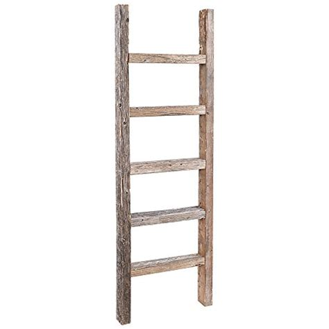 Decorative Wooden Ladder by Decorative Ladder Reclaimed Wooden Ladder 4 Foot Rustic Barn Wood Ebay