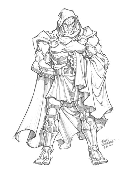 doctor doom coloring page sketch of the day dr doom by skullbabyland on deviantart