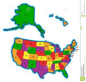 united states colors united states map in color royalty free stock images