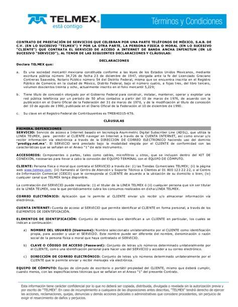 carta cancelacion de linea telcel term cond infinitum