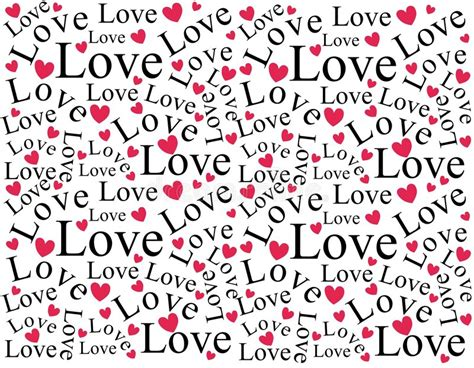un pattern words love and hearts background pattern stock photo image of