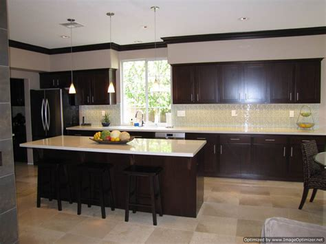 kitchens with espresso cabinets espresso shaker ee