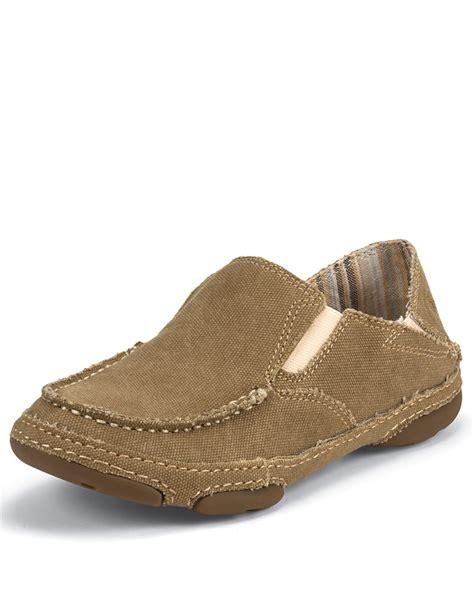 winter slip on shoes tony lama s canvas slip on shoe winter wheat