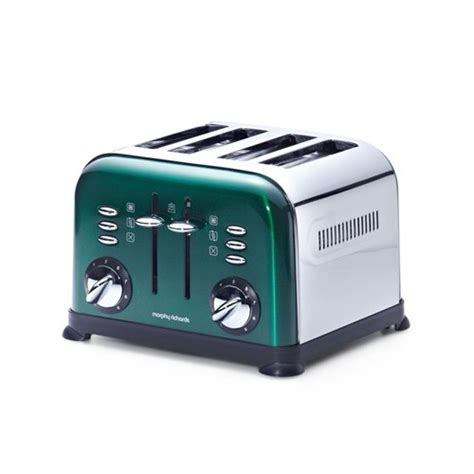 4 Slice Toasters On Sale Morphy Richards 4 Slice Toaster Emerald Green On Sale Now
