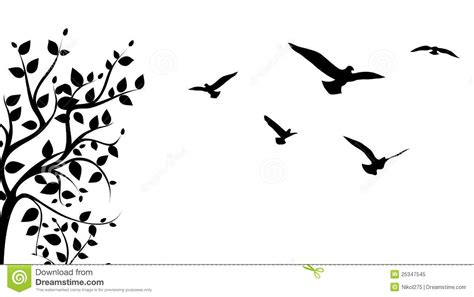 Tree Branch Wall Sticker tree and bird stock vector image of popular painting