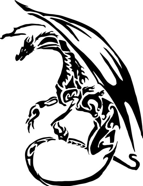 dragon tattoo vector free vector dragon tattoo by alex321432 on deviantart