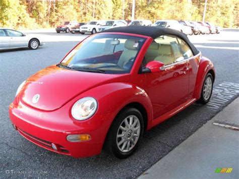 volkswagen beetle red convertible 2004 uni red volkswagen new beetle gls convertible