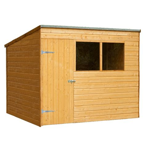 6x8 Garden Shed Forest Garden 6x8 Shiplap Pent Shed 163 434 99