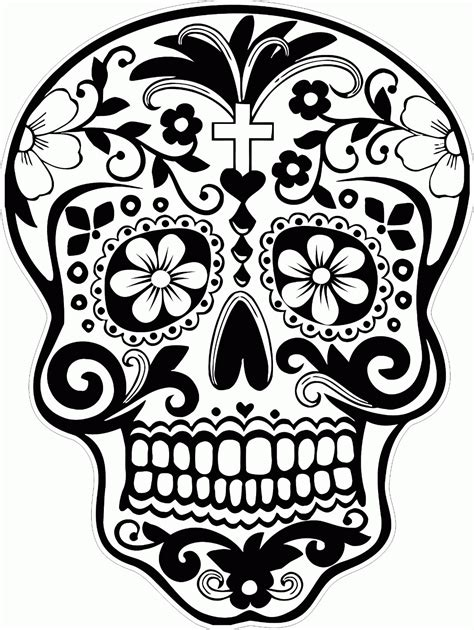 Sugar Skull Coloring Pages Coloring Home Mexican Skull Coloring Pages