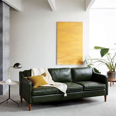 west elm hamilton hamilton leather sofa west elm