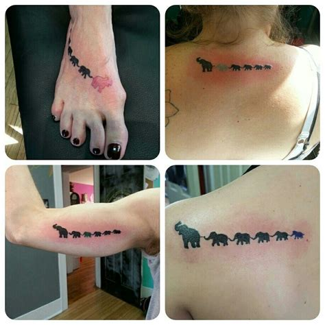 tattoo elephant chain 4 of the 6 family members got a chain of elephants today
