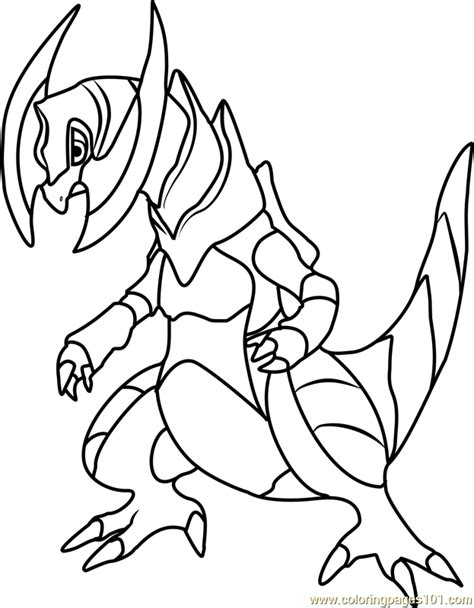 Haxorus Pokemon Coloring Page Free Pok 233 Mon Coloring Coloring Pages Of Black And White