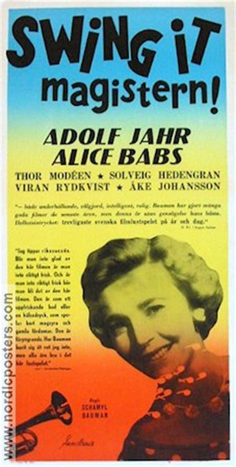 swing it magistern swing it magistern movie poster 1940 original nordicposters