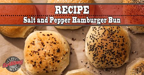Salt And Pepper Bun | best ever homemade hamburger bun recipe salt and pepper buns