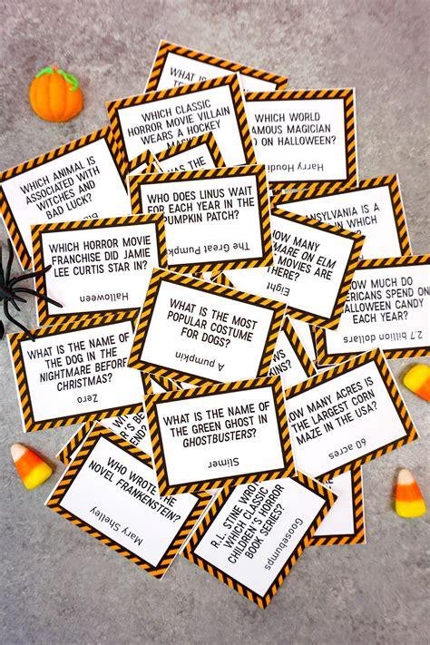 printable halloween trivia game happiness  homemade