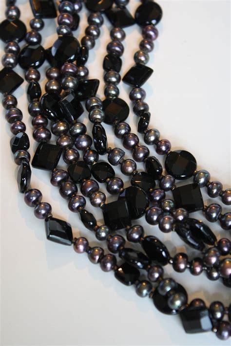 9809 Marina Pink daniele cornaggia black onyx and biwa pearl necklace for