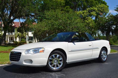 2004 Chrysler Sebring For Sale 2004 chrysler sebring limited convertible for sale