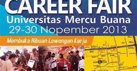 jadwal dan persyaratan ak 1 kartu kuning disnakertrans career fair universitas mercu buana 29 30 nopember 2013