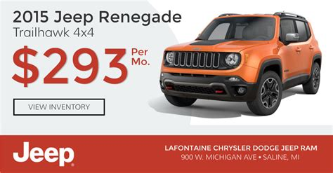 Jeep Leasing Deals Jeep Renegade Lease Offers