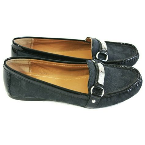 black coach loafers 70 coach shoes coach black logo loafers from vera