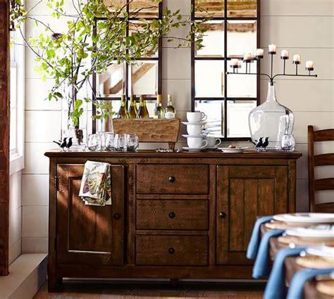 mirror buffet table eagan multipanel small mirror pottery barn