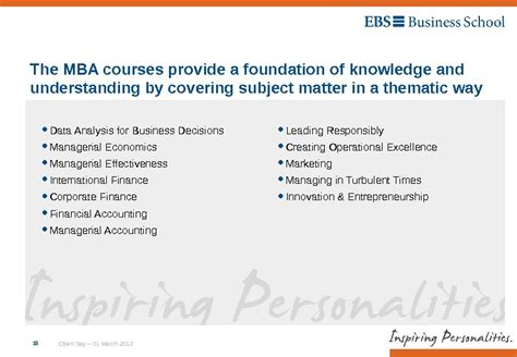 Ebs Business School Mba by Ebs Time Mba Open Day 01