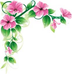latest green leaf and pink flowers border design hd my blog