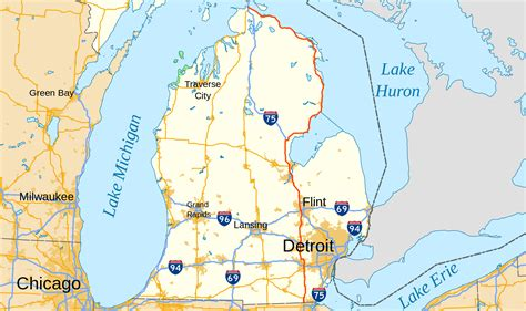 show map of show map of us 23 michigan cdoovision
