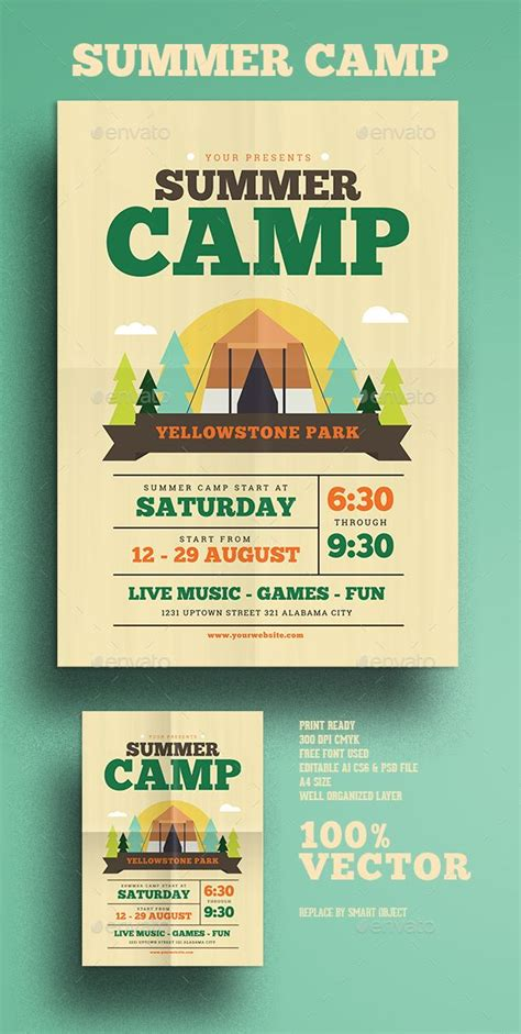 Summer C Flyer Summer Cs Flyers And Cs Outdoor Flyer Template