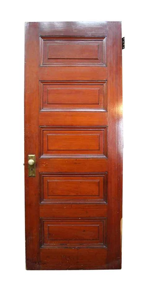 wooden 5 raised panel interior door olde things