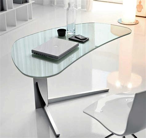 Glass Home Office Desks Modern Glass Desks For Work