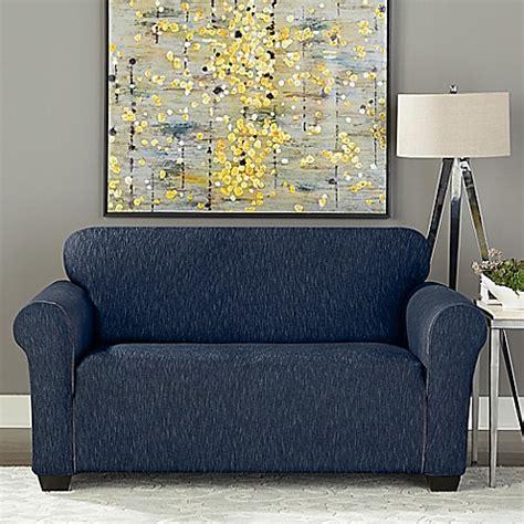 sure fit denim sofa slipcover sure fit 174 designer denim 1 piece loveseat slipcover bed
