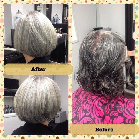 grey hair pics before and after before after haircut on gray hair pretty silver hair