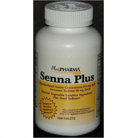 Generic Stool Softener by Senna Plus Laxative Stool Softener Generic Senokot S 1000ct By Pluspharma Digestion Nausea