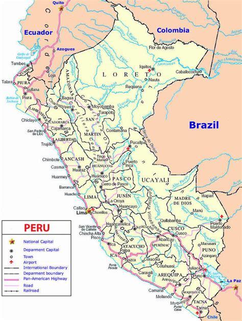 road map of peru peru road map