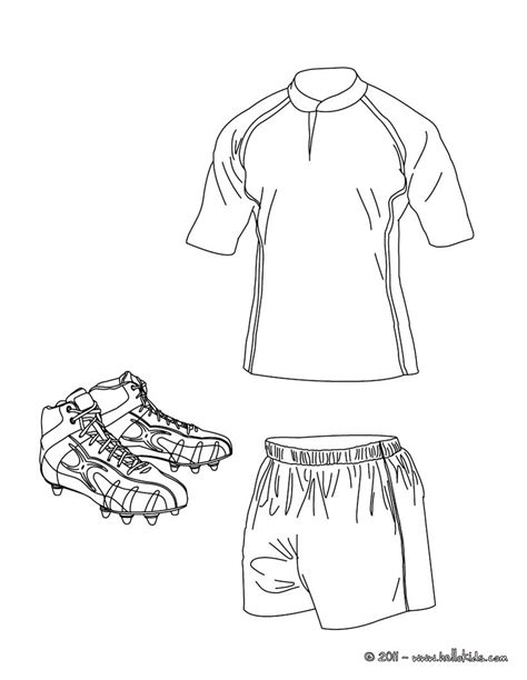 Rugby Shirt Shorts And Shoes Coloring Pages Hellokids Com Cool Shirt Coloring Pages